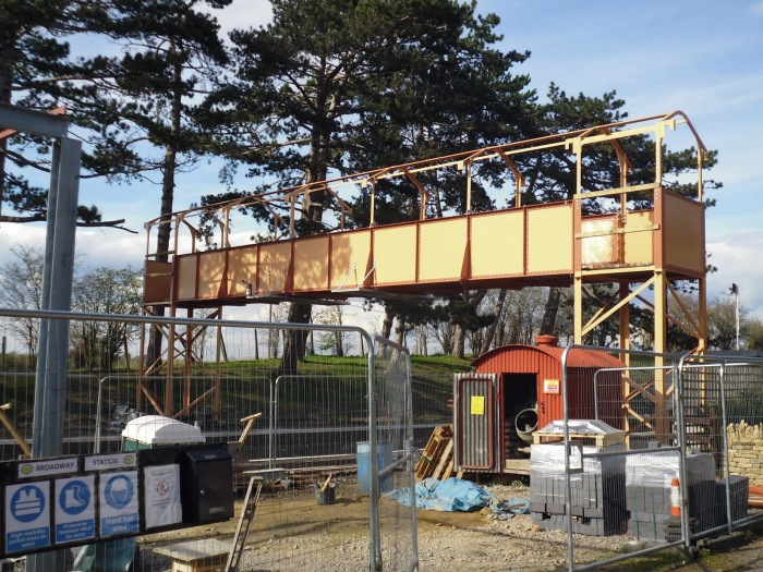 Footbridge steelwork finished